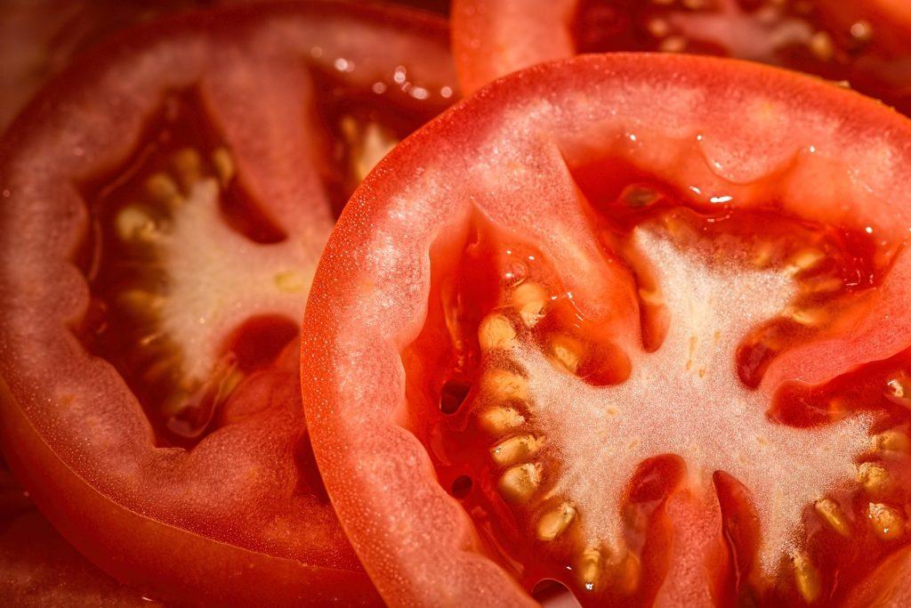 Tomaten einfrieren in Scheiben geschnitten